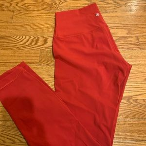 "LULULEMON Wunder Under Luxtreme 25"" red size 6"